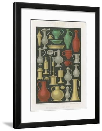 Furniture and Various Objects of the 12th and 13th Centuries--Framed Giclee Print