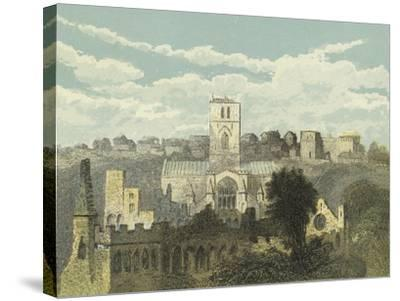 St David's Cathedral, View from the Ancient Bishop's Palace--Stretched Canvas Print