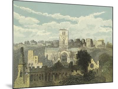 St David's Cathedral, View from the Ancient Bishop's Palace--Mounted Giclee Print