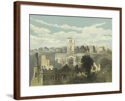 St David's Cathedral, View from the Ancient Bishop's Palace--Framed Giclee Print