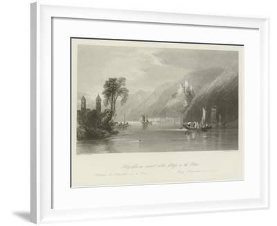 Stolzenfels, an Ancient Robber-Fortress on the Rhine--Framed Giclee Print