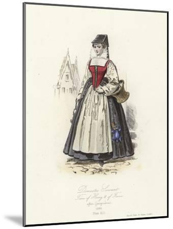 Domestic Servant of the Time of Henry III of France--Mounted Giclee Print