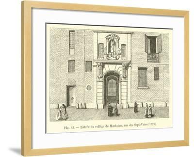 Entree Du College De Montaigu, Rue Des Sept-Voies, 1779--Framed Giclee Print