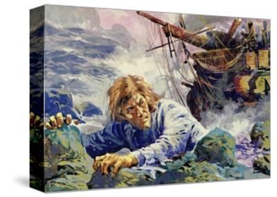 Grotius Died Escaping from a Shipwreck on His Way Back to Holland--Stretched Canvas Print