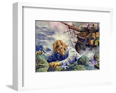 Grotius Died Escaping from a Shipwreck on His Way Back to Holland--Framed Giclee Print