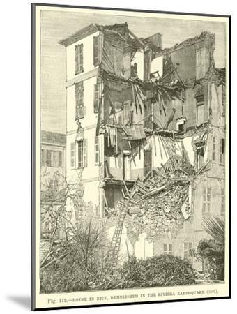 House in Nice, Demolished in the Riviera Earthquake, 1887--Mounted Giclee Print