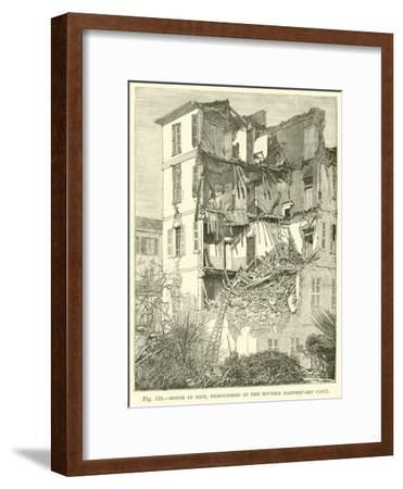 House in Nice, Demolished in the Riviera Earthquake, 1887--Framed Giclee Print