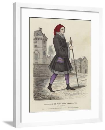 Bourgeois Parisian Man of the Reign of Charles VII, 15th Century--Framed Giclee Print