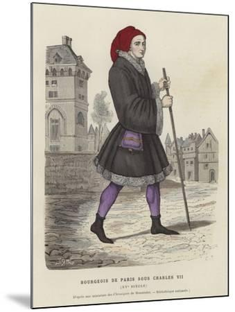 Bourgeois Parisian Man of the Reign of Charles VII, 15th Century--Mounted Giclee Print