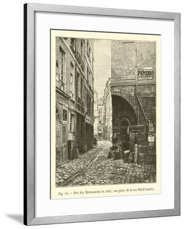Rue Des Marmousets En 1865, Vue Prise De La Rue Saint-Landry--Framed Giclee Print