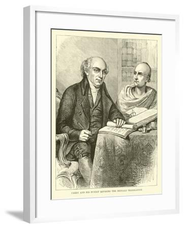 Carey and His Pundit Revising the Bengali Translation--Framed Giclee Print