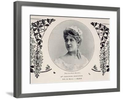 Portrait of Marguerite Carpentier, Operatic Singer, in Role of Manon--Framed Giclee Print