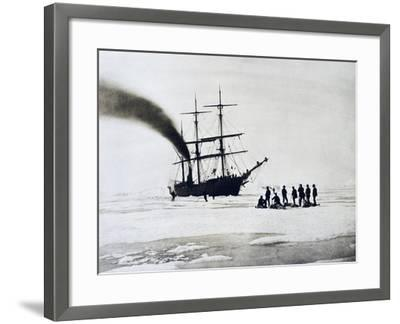 Expedition to North Pole by Count Johann Nepomuk Wilczek--Framed Giclee Print