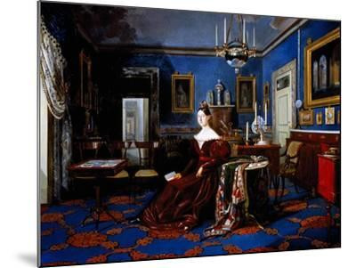 Portrait of Maria Cristina of Savoy in Palace of Caserta--Mounted Giclee Print