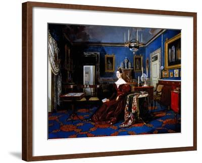 Portrait of Maria Cristina of Savoy in Palace of Caserta--Framed Giclee Print