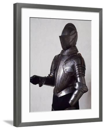 Engraved and Gilded Armor, Work by Armourer Pompeo Della Cesa--Framed Giclee Print