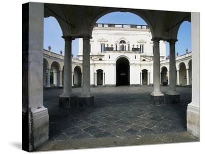 The Entrance and Elliptical Portico, Villa Campolieto--Stretched Canvas Print