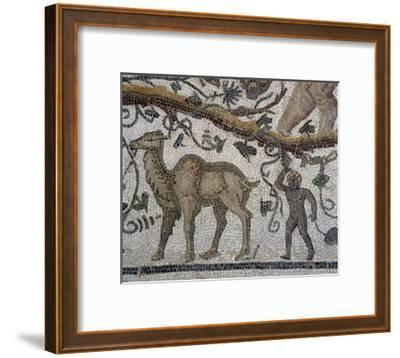 Black Man and Camel, Detail from So-Called Mosaic of Silenus of Thysdrus--Framed Giclee Print