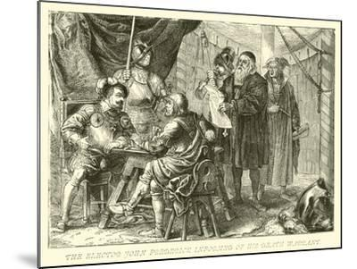 The Elector John Frederick Informed of His Death Warrant--Mounted Giclee Print