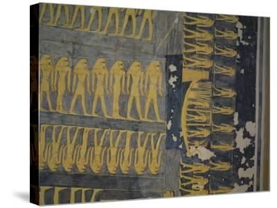 Egypt, Thebes, Luxor, Valley of the Kings, Tomb of Ramses IX--Stretched Canvas Print