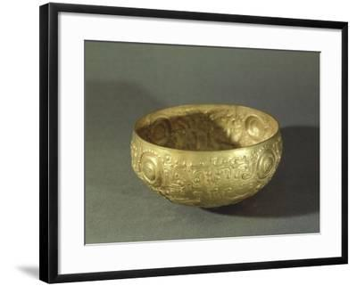 The Mantena, Gold Cup Embossed Originating from Manabi--Framed Giclee Print