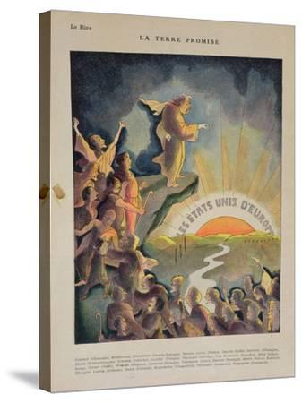 The Promised Land, United States of Europe: Aristide Briand--Stretched Canvas Print