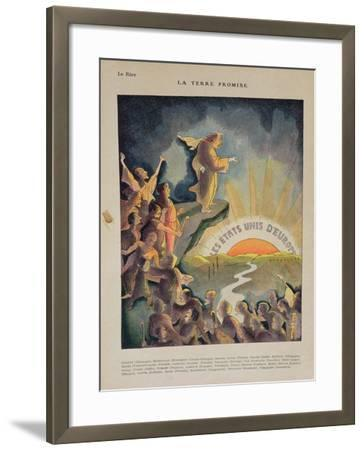 The Promised Land, United States of Europe: Aristide Briand--Framed Giclee Print