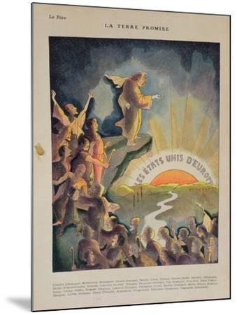 The Promised Land, United States of Europe: Aristide Briand--Mounted Giclee Print