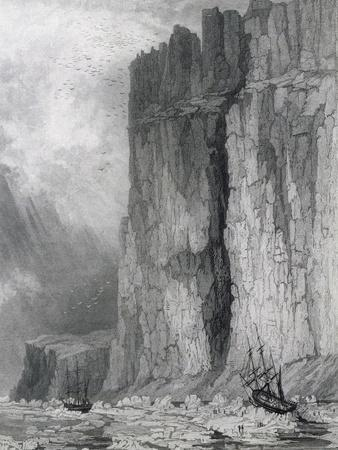 Fury and Hecla in Ice, August 1, 1825--Framed Giclee Print