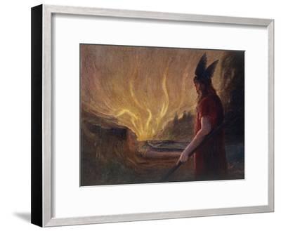 Wotan's Farewell to Brunnhilde--Framed Giclee Print
