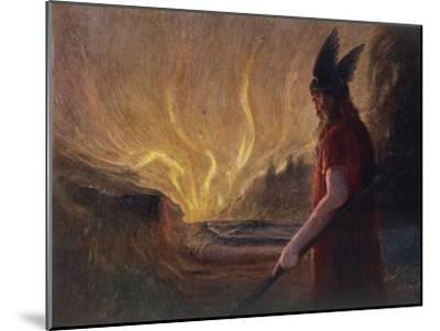 Wotan's Farewell to Brunnhilde--Mounted Giclee Print