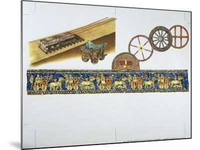 Reconstruction of the Wheel in Ancient Times, 1996--Mounted Giclee Print