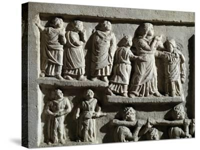 Detail from Marble Relief Depicting Funeral Cortege, from Arniternuni--Stretched Canvas Print