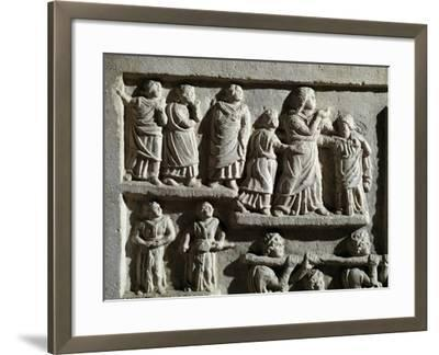Detail from Marble Relief Depicting Funeral Cortege, from Arniternuni--Framed Giclee Print