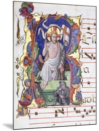 Very Large Historiated Letter 'A', Showing the Resurrection, C.1400-1450--Mounted Giclee Print