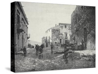 Italy, Trapani, Glimpse of Gibellina During Fasci Siciliani--Stretched Canvas Print