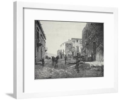 Italy, Trapani, Glimpse of Gibellina During Fasci Siciliani--Framed Giclee Print