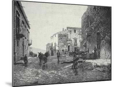 Italy, Trapani, Glimpse of Gibellina During Fasci Siciliani--Mounted Giclee Print