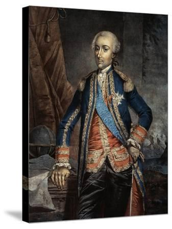 Portrait of Jean Baptiste Charles Hector, Count of Estaing--Stretched Canvas Print