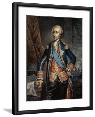 Portrait of Jean Baptiste Charles Hector, Count of Estaing--Framed Giclee Print