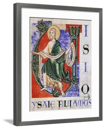 Prophet Isaiah from Citeaux, Miniature from Citeaux Explanatio in Isaiam--Framed Giclee Print