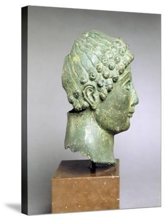 Bronze Head of a Youth, Side View, Bronze from Ariccia--Stretched Canvas Print