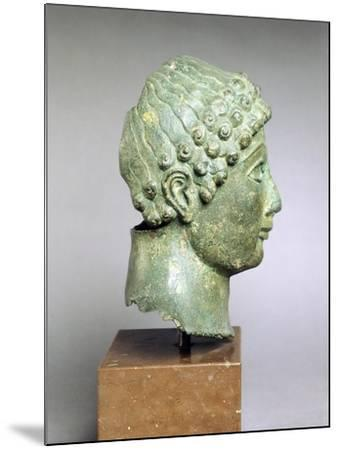 Bronze Head of a Youth, Side View, Bronze from Ariccia--Mounted Giclee Print
