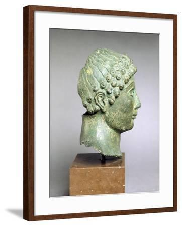 Bronze Head of a Youth, Side View, Bronze from Ariccia--Framed Giclee Print