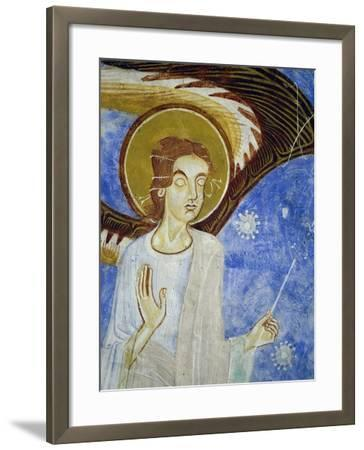 Angel, North Figure, Detail of Western Arm of Frescoed Stone Cross--Framed Giclee Print