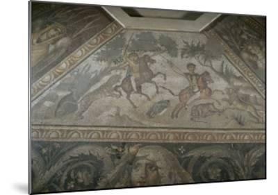 Roman Mosaic with Scene of Wild Beasts Hunt, from Antakya--Mounted Giclee Print