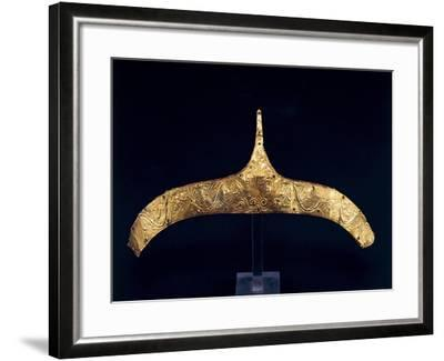 Golden Crown with Embossed Vegetable Decoration from Derveni--Framed Giclee Print