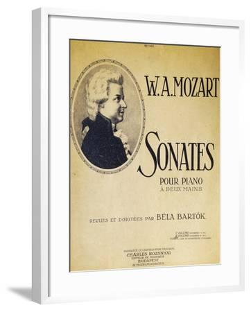 Title Page of Sonatas for Piano for Two Hands--Framed Giclee Print