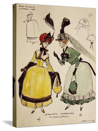 Costume Sketch for Travelers of Opera Fra Diavolo--Stretched Canvas Print