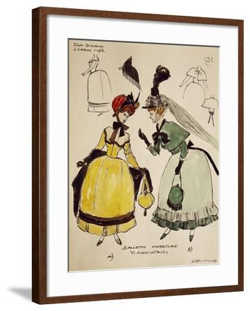 Costume Sketch for Travelers of Opera Fra Diavolo--Framed Giclee Print